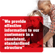 """We provide effective information to our customers in a consistent, standardised structure"""