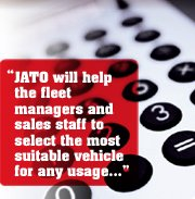 """JATO will help the fleet managers and sales staff to select the most suitable vehicle for any usage..."""